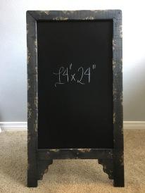 easel - large black rustic