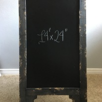 easel - large black rustic